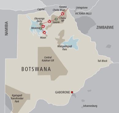 Botswana Highlights, & Okavango Delta Safari - Travel Itinerary