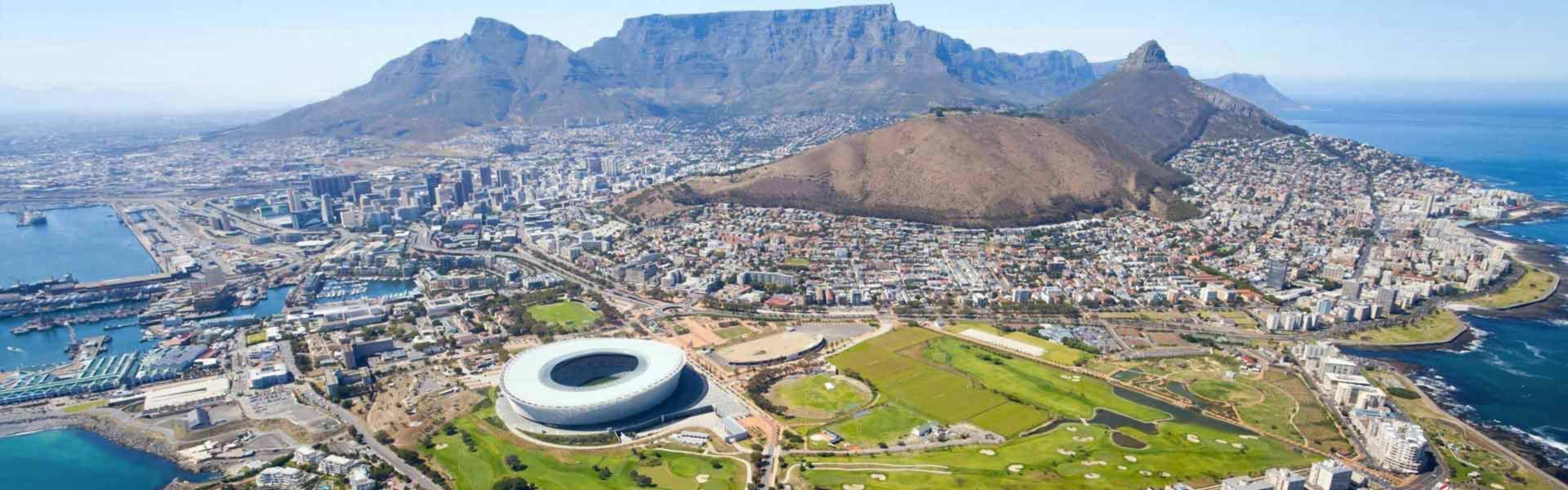 The spectacular and vibrant city of Cape Town as seen from the air