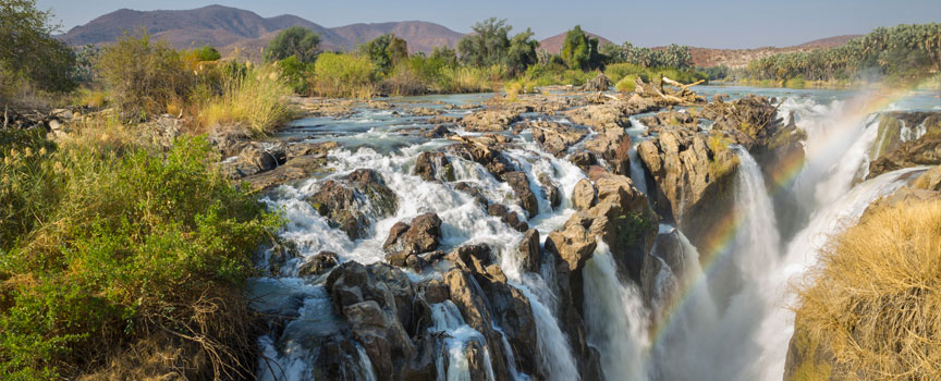 Damaraland rivers forming a rainbow