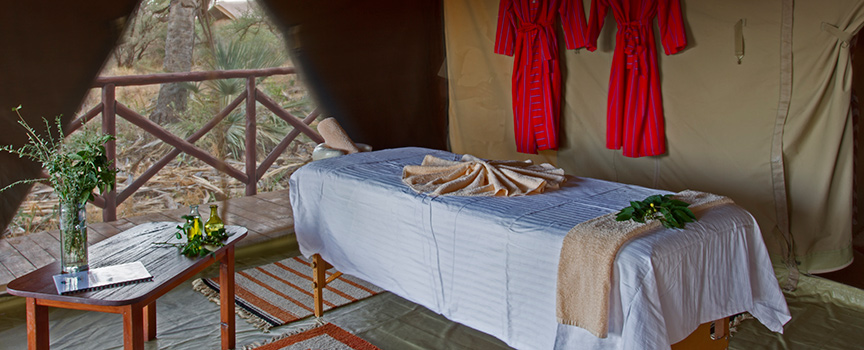 Elephant Bedroom Camp spa