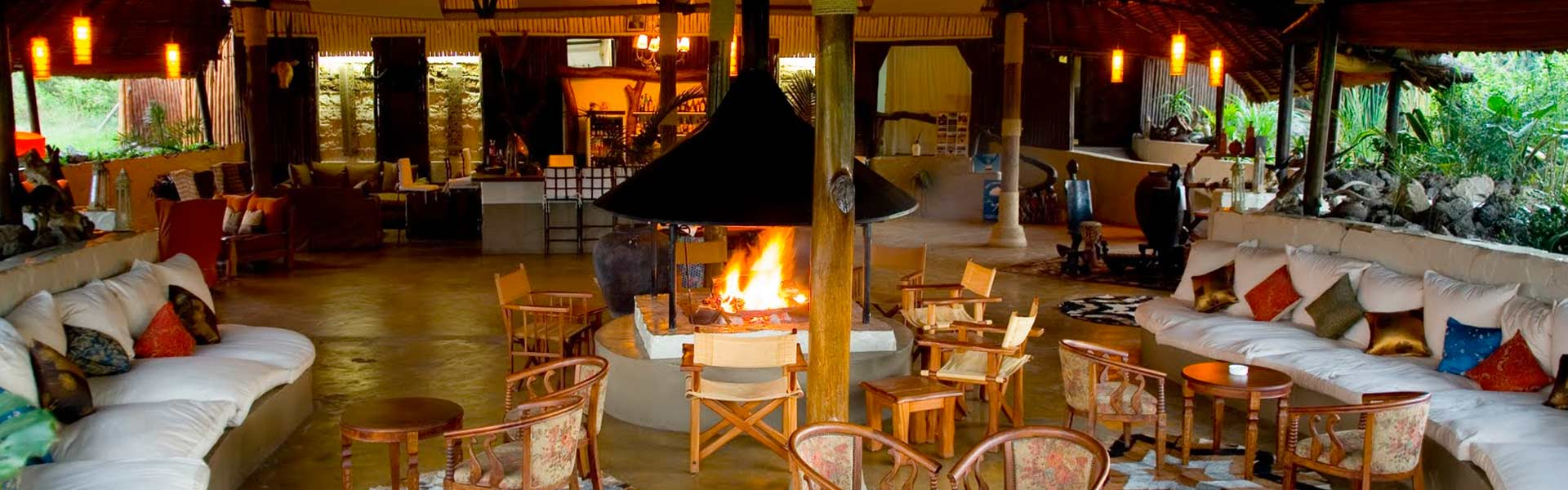 Kenya escapes safari luxury fireplace in boma