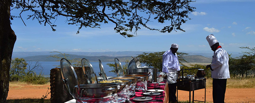 Mbweha Camp lunch
