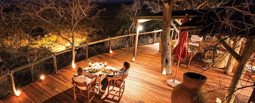 Ongava Game Reserve evening dining