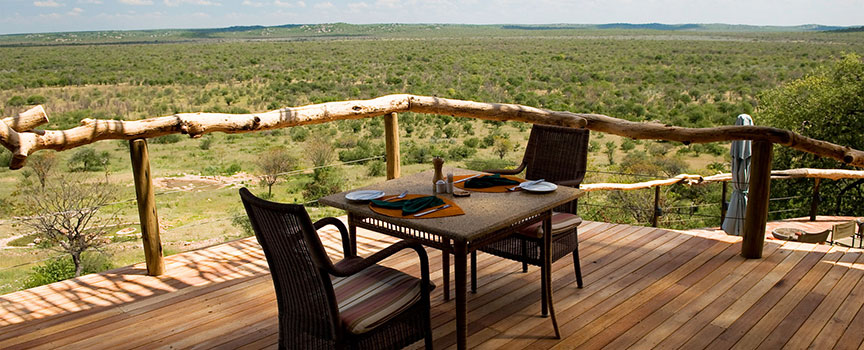 Ongava Game Reserve lodge deck views
