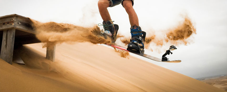Dunesurfer getting some air