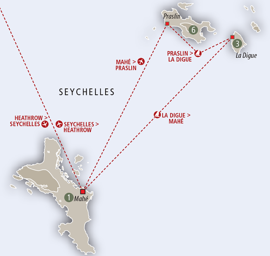 Africa Collection Seychelles Safari and Seychelles Beach custom map