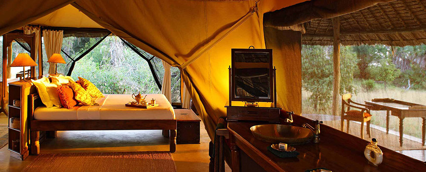 Siwandu tented camp accommodation Tanzania