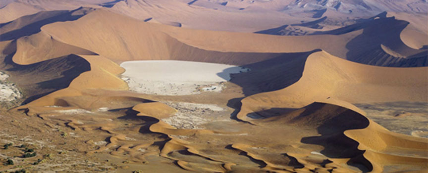 Sossusvlei dunes and pans in Namibia