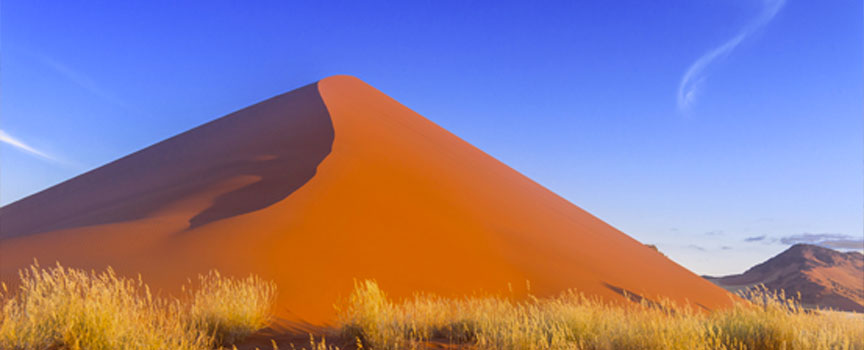 Sossusvlei dunes with grassy patches