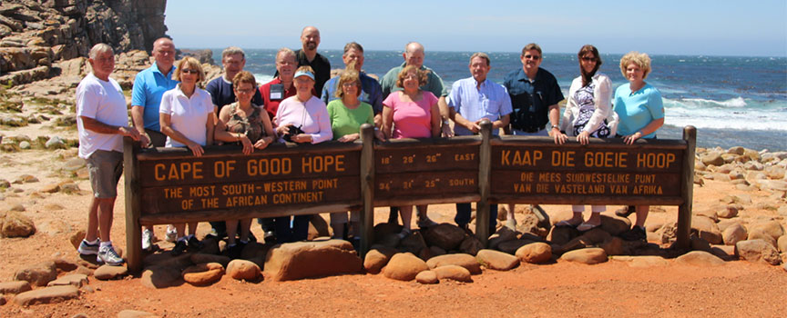 Escorted group tours at Cape of Good Hope in South Africa