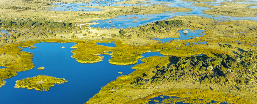 The Okavango Delta as seen from the air