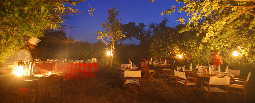 Tipilikwani Mara Camp outdoor dining