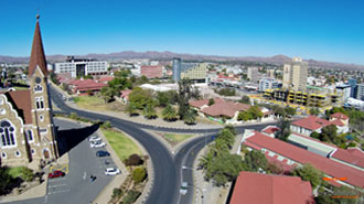 The capital city of Namibia, Windhoek